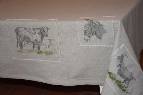 Country Corner Tischdecke Animal Farm 150x250 cm