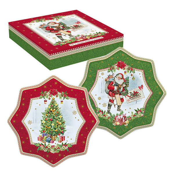 Easy Life, Vintage Christmas 2er Set Dessertteller