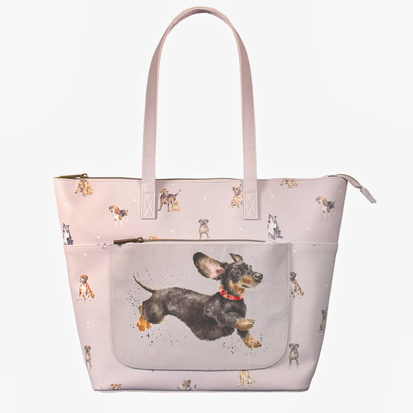 "Wrendale, Schultertasche ""A Dog´s Life"" Hunde Dackel"