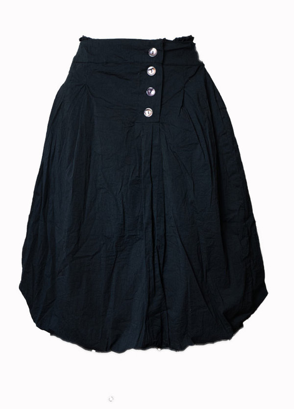 Les Ours, Rock / Skirt Angele, Popelin noir, SALE vorher € 222,-