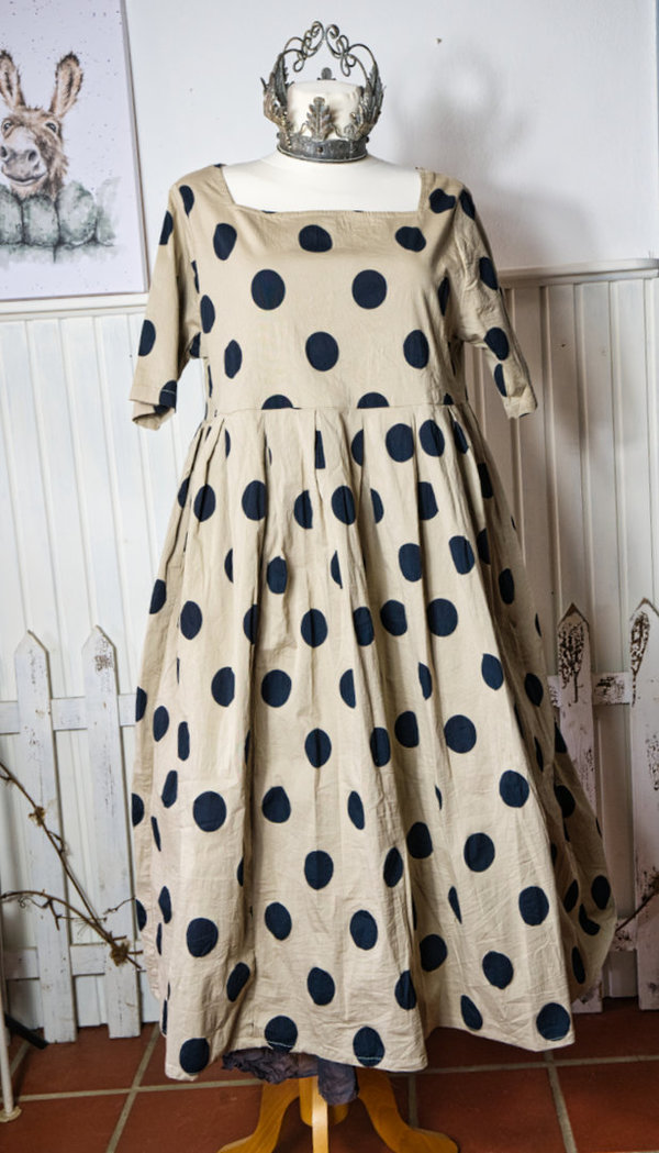 Les Ours, Kleid / Dress Rose, pois noir, SALE vorher € 247,-