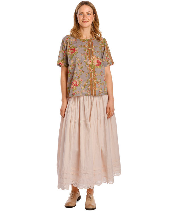 Ewa i Walla Rock / Skirt 22107, Shirt Cotton powder